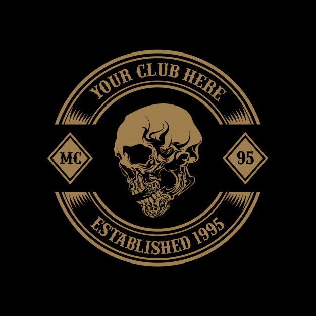 Motorcycle club logo Vector.