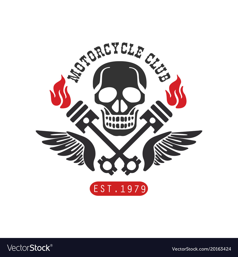 Motorcycle club logo est 1979 design element for.