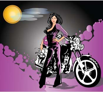 Motorcycle girl 6 Clipart Picture Free Download.