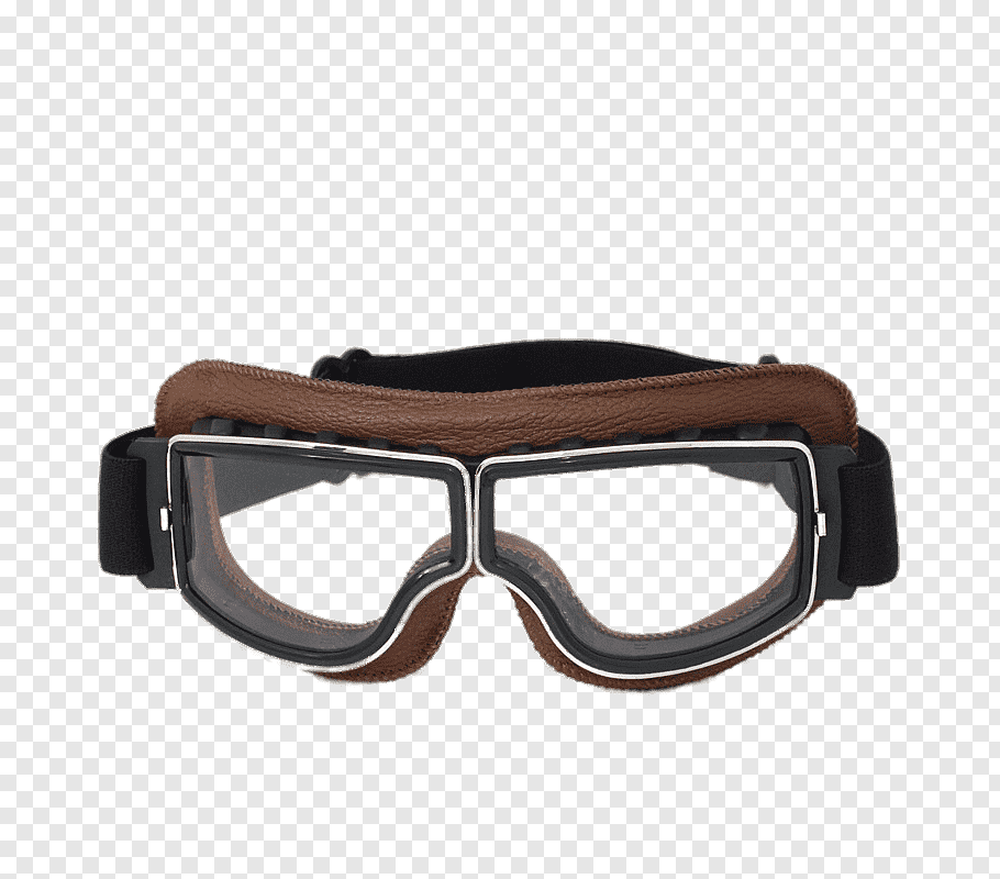 Black and brown frame goggles illustration, Retro Motorbike.