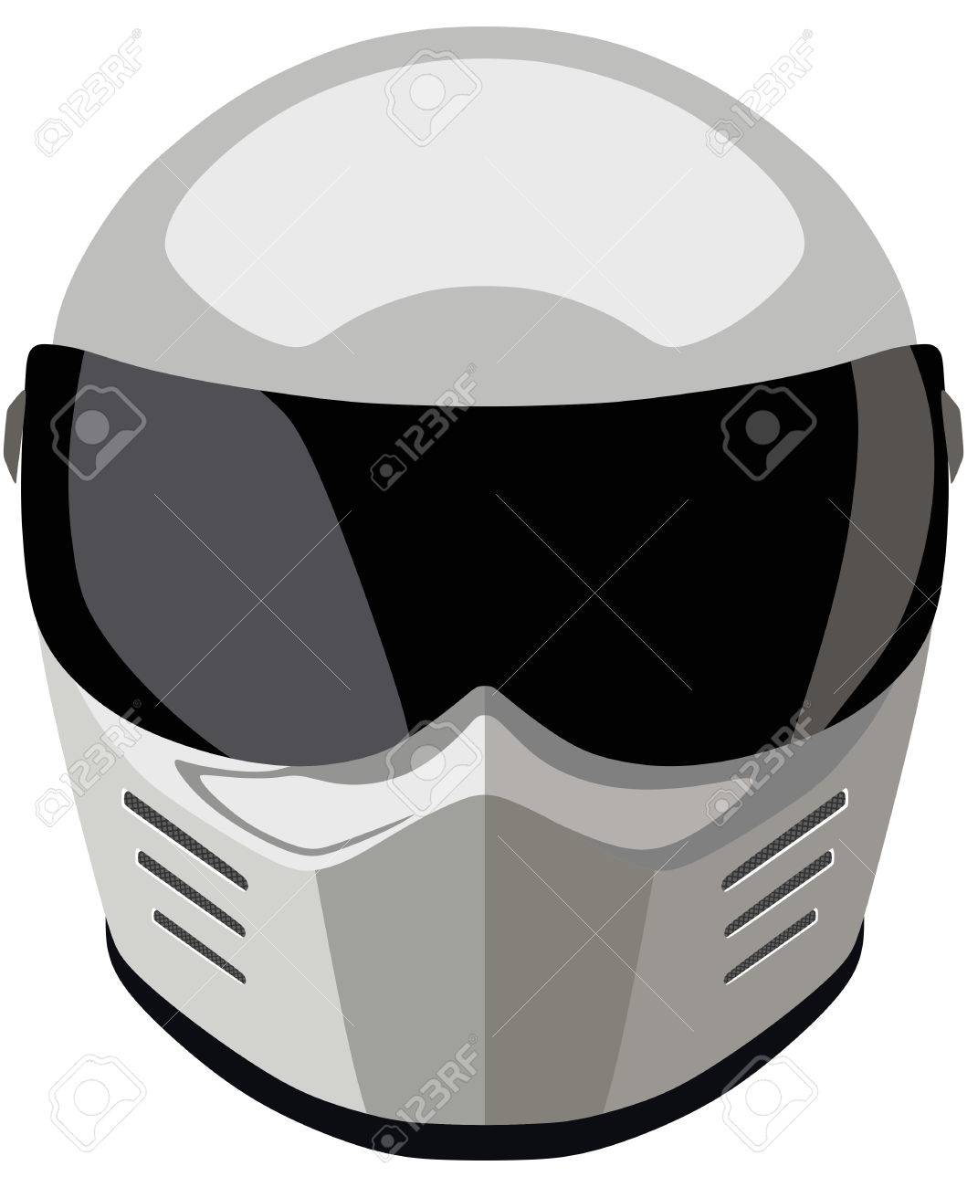 White motorcycle helmet on a white background.
