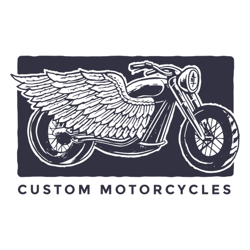 Custom motorcycles logo.