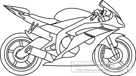 motorbike drawing outline.
