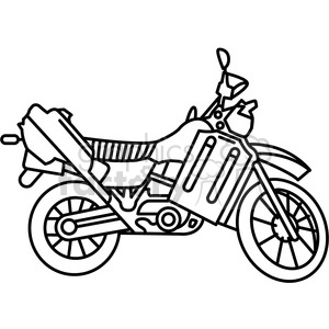 military armored motorcycle vehicle outline clipart. Royalty.