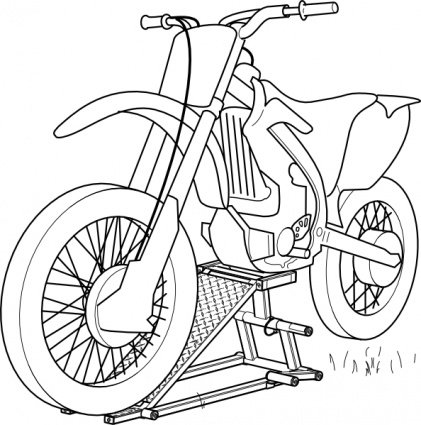 Outline Motorcycle Lift Clipart Picture Free Download.