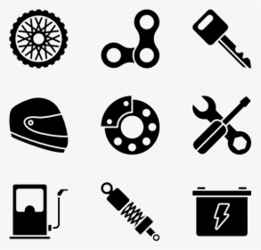 Motorcycle Icons Free Vector.