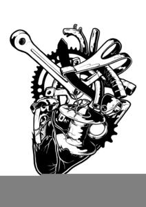 Motorbike Parts Clipart.