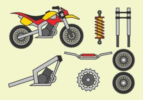 Motorcycle Parts Free Vector Art.