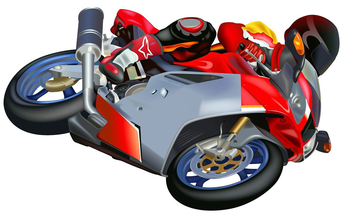 Motorcycle Racing Clipart.