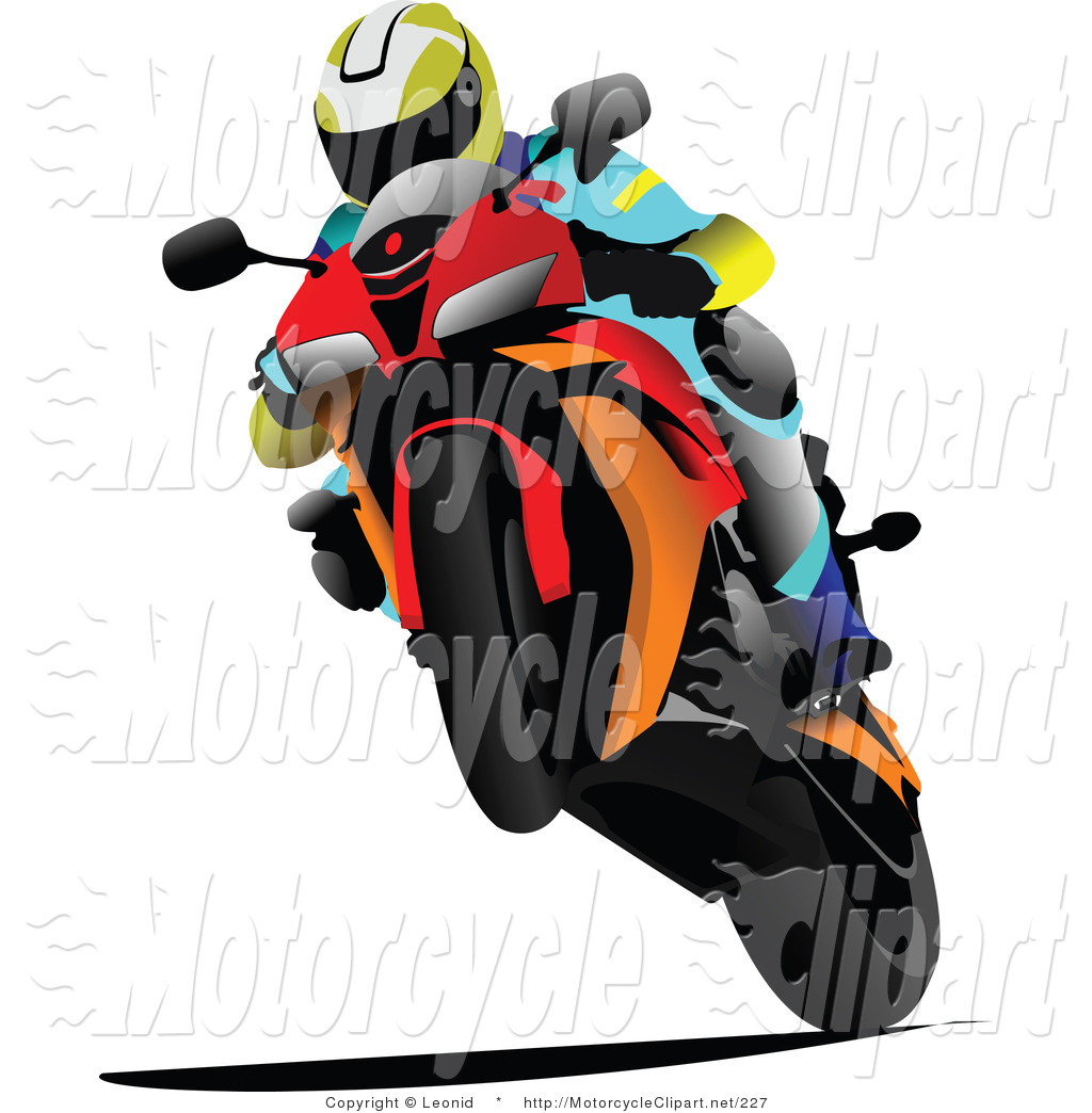 Funny Motorcycle Clipart.