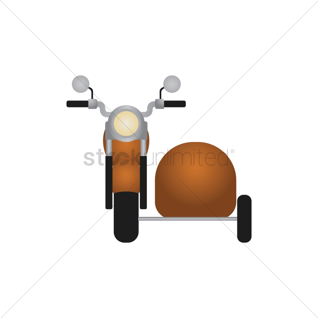 Motorcycle with sidecar Vector Image.