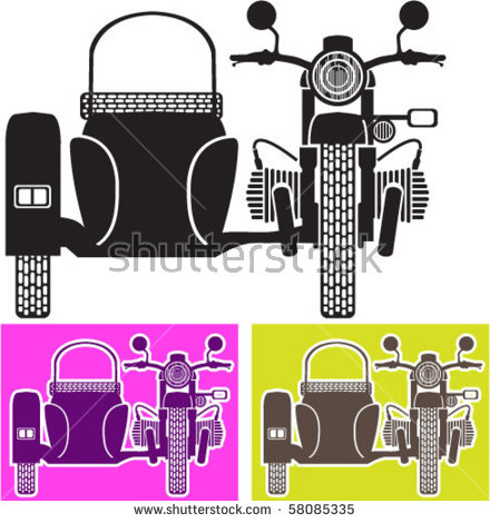 Motorcycle Sidecar Stock Images, Royalty.