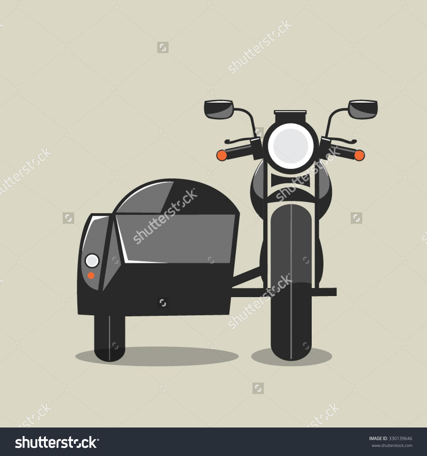 Vintage Motorcycle Side Car Stock Vector 330139646.