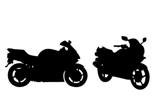 Stunning View of a Motorcycle Silhouette Vector Free.