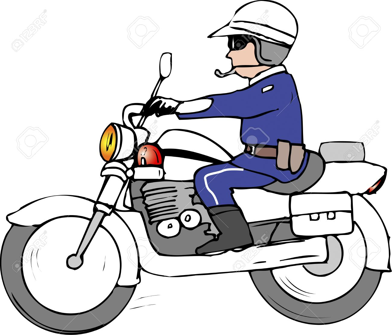 Police Motorcycle Team Stock Photo, Picture And Royalty Free Image.