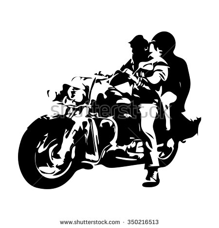 Motorcycle Silhouette Stock Images, Royalty.