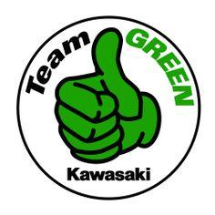 Kawasaki motorcycle clipart.