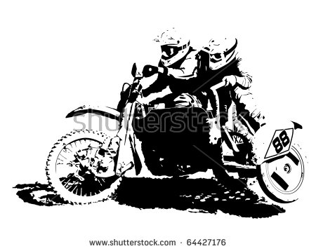 Enduro Motorcycle Stock Vectors, Images & Vector Art.