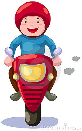 Ride a motorbike clipart.