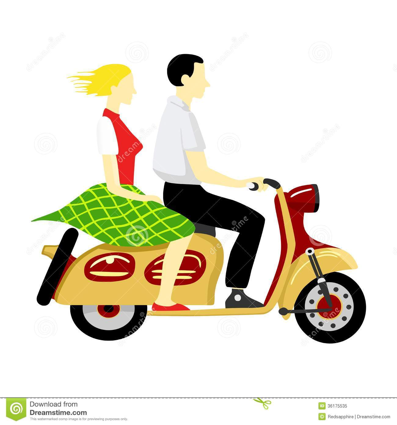 Ride a motorcycle clipart.