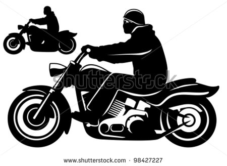 Motorcycle riding clipart.
