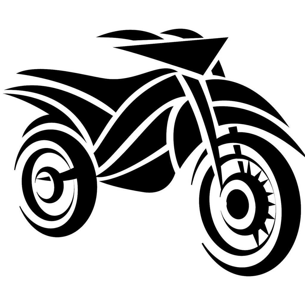 Motorcycle Vector Art.