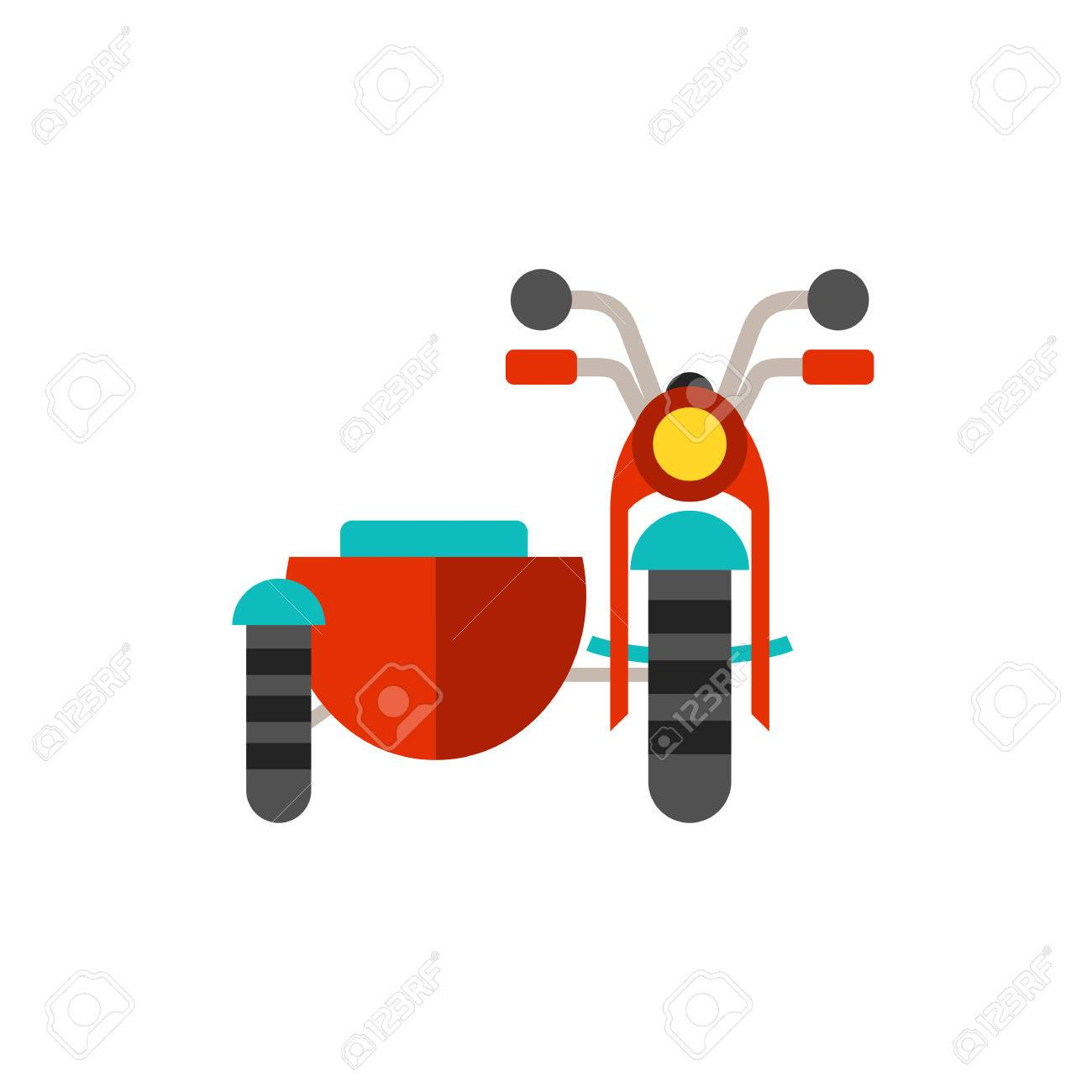 Motorcycle with sidecar icon.