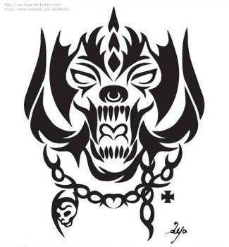 motorhead logo tattoo.