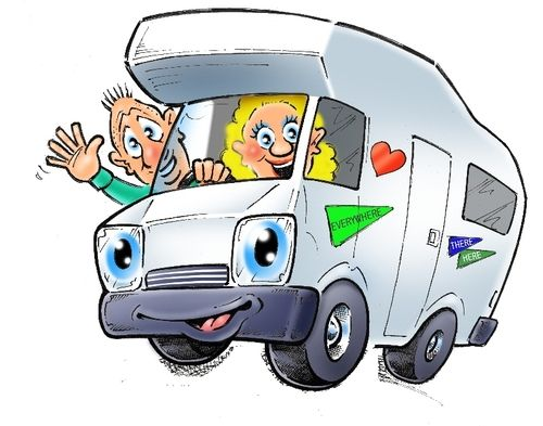 Image result for cartoon campervan pictures.