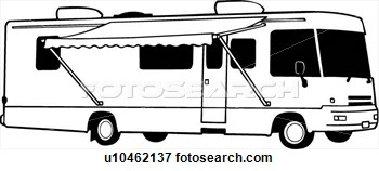 Cartoon Rv Motorhome Clipart.