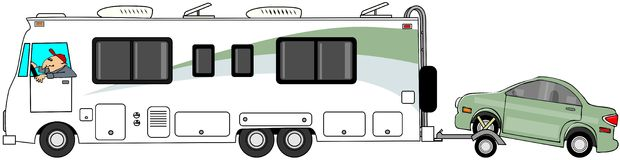 Motorhome Stock Illustrations.