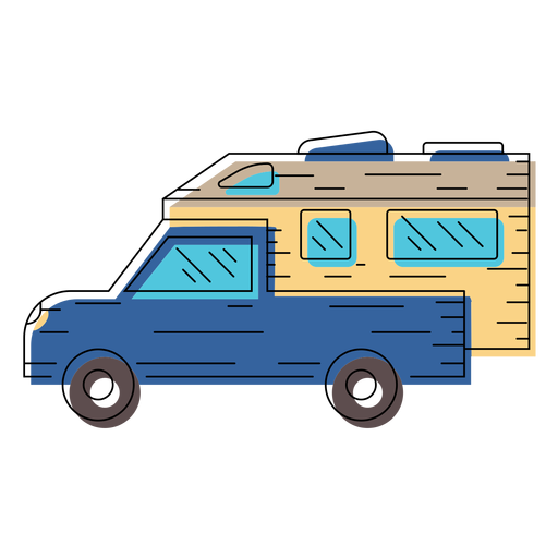Motorhome vehicle illustration.
