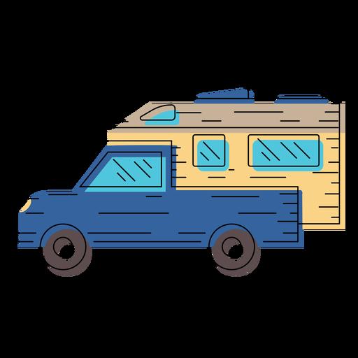 Motorhome vehicle illustration.
