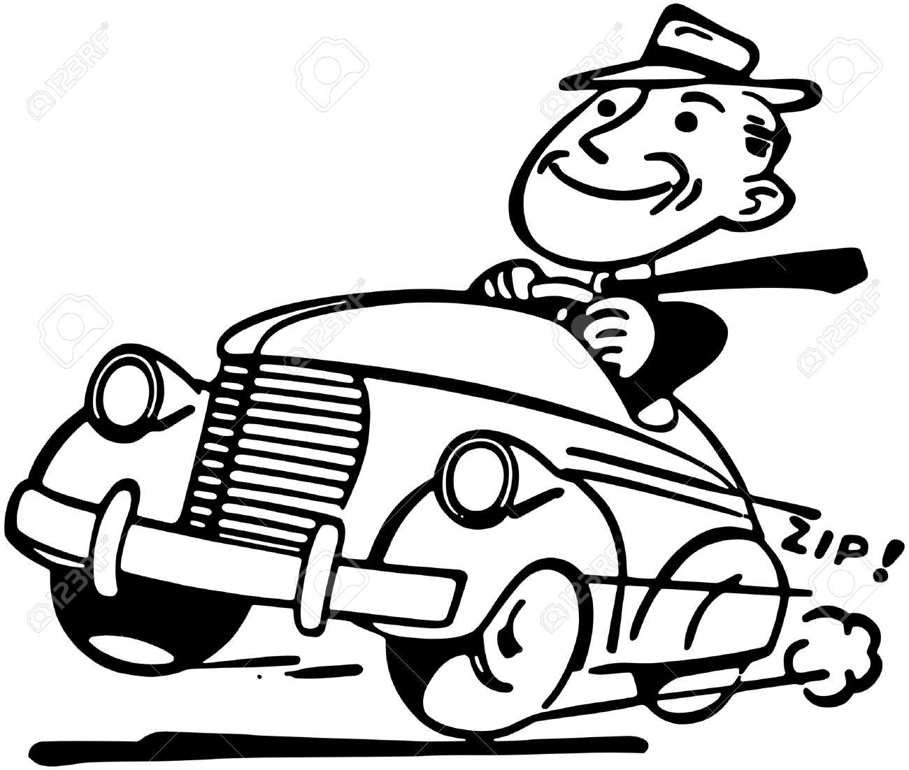Happy Motorist Royalty Free Cliparts, Vectors, And Stock.