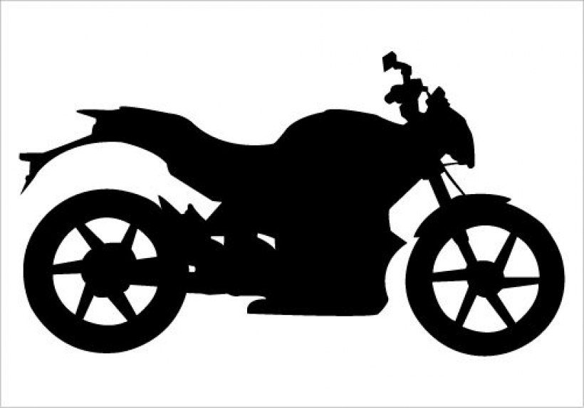 motorbike silhouette vector on road for motorized extreme sports30.