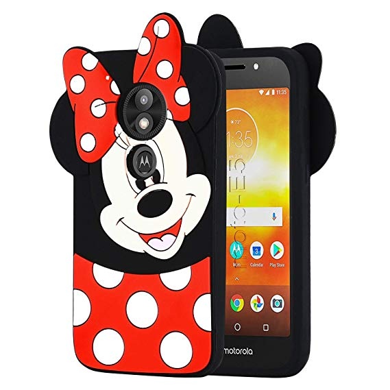 Allsky Case for Motorola Moto E5 Play,E5 Cruise,Cartoon Soft Silicone Cute  3D Fun Cool Cover,Kawaii Unique Kids Girls Teens Animal Character Rubber.