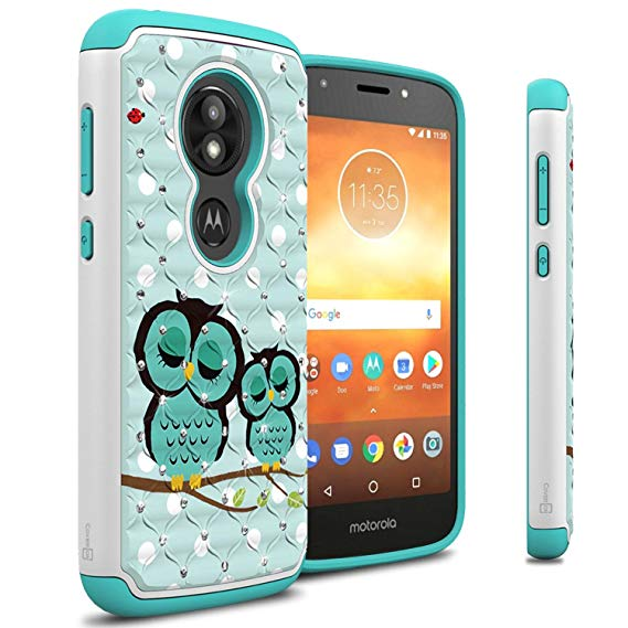 Moto E5 Play Case, Moto E5 Cruise Case, CoverON Aurora Series Protective  Hybrid Phone Cover with Rhinestone Diamond Bling for Motorola Moto E5.
