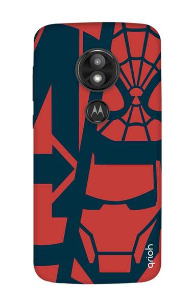 Superhero Clip Art Case for Motorola Moto E5 Play.