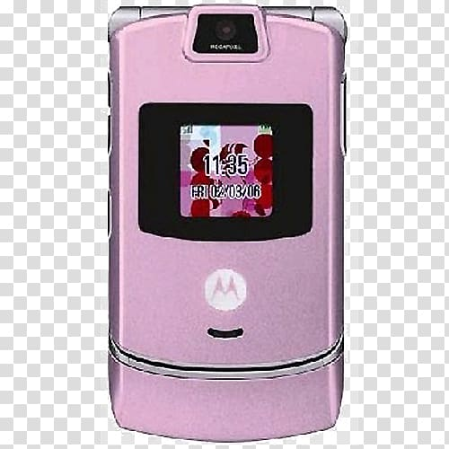Droid Razr Telephone Verizon Wireless Clamshell design pink.