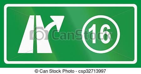 Stock Illustration of Slovenian road sign.