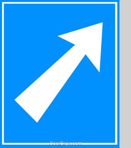 EU traffic sign, motorway exit Royalty Free Vector Clip Art.