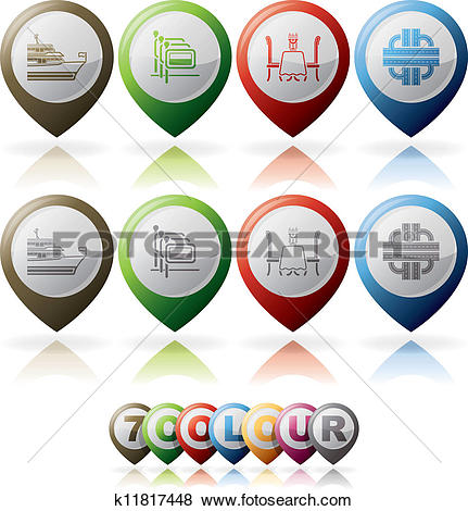 Clip Art of Hotel Info and Services k11817448.