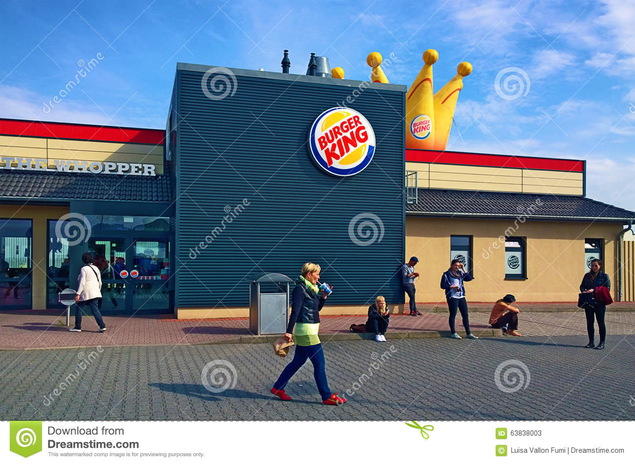 Burger King At Rest Stop On German Motorway Editorial Stock Photo.
