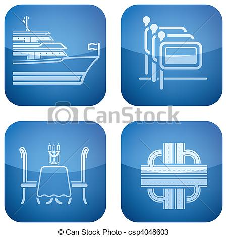 Vectors of Hotel Info and Services.