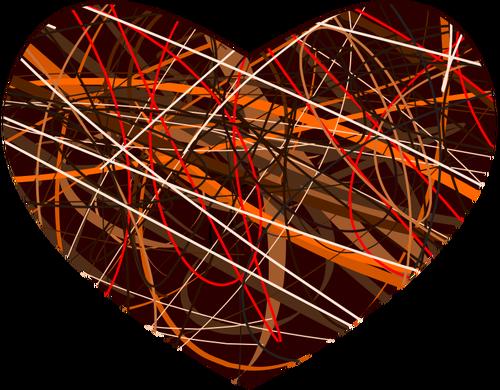 Vector clip art of mottled heart.