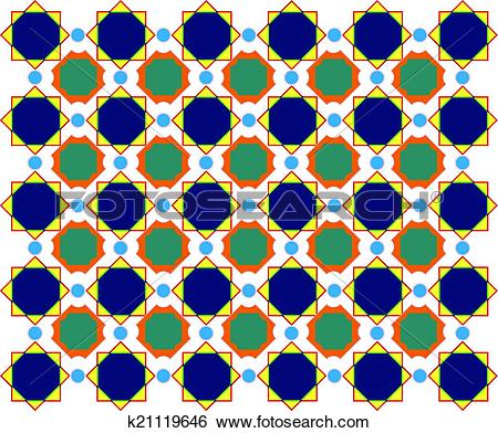 Clip Art of Abstract design, mottled with circles background.