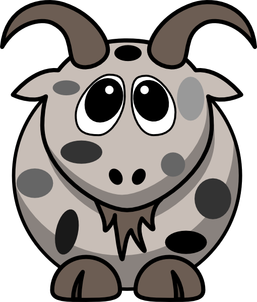 Mottled Goat Clip Art at Clker.com.