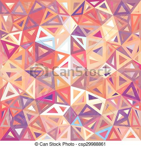 Clip Art Vector of Mottled abstract triangles.