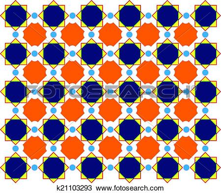 Clipart of Abstract design, mottled with circles background.