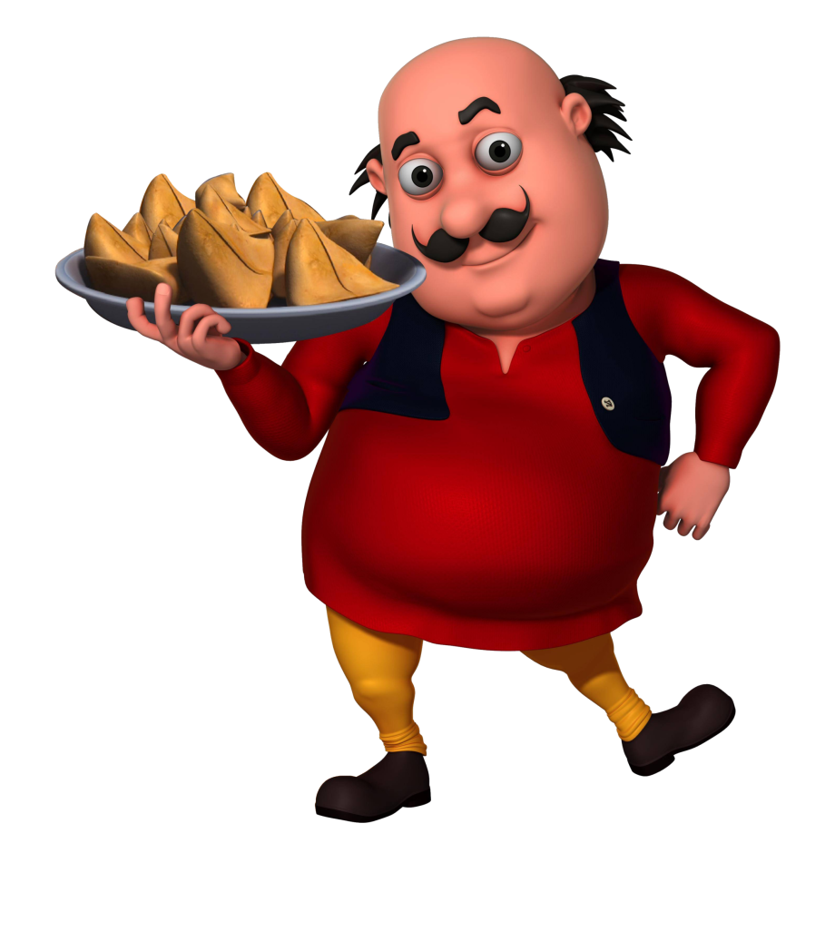 Motu Patlu With Samosa Clipart , Png Download.